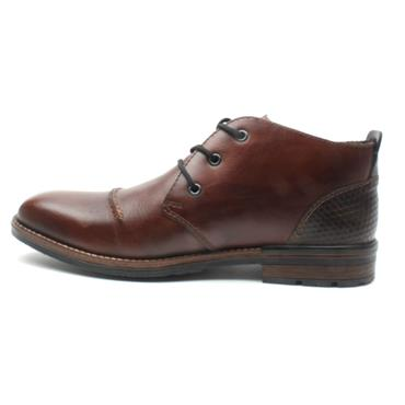 RIEKER B1344 LACED BOOT - BROWN