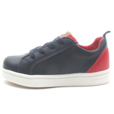 GEOX B922CA JUNIOR SHOE - NAVY/RED