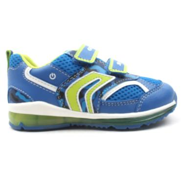 GEOX B9284A JUNIOR RUNNER - NAVY/GREEN