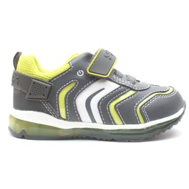 GEOX B9484A JUNIOR RUNNER - GREY/GREEN