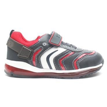 GEOX B9484A JUNIOR RUNNER - NAVY/RED