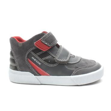 GEOX B94A7A VELCRO JUNIOR BOOT - GREY/BLACK