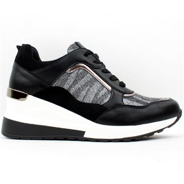 LLOYD AND PRYCE FOR HER BEAMISH SHOE - BLACK MULTI