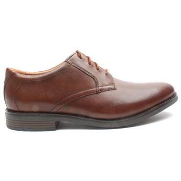 CLARKS BECKEN LACE SHOE - DARK TAN H