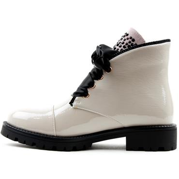 KATE APPLEBY BEDALE LACED BOOT - STONE