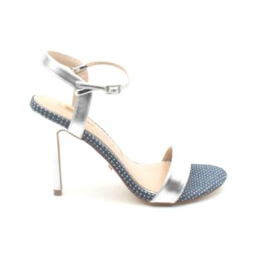 GLAMOUR BLOSSOM STRAPPY SANDAL - SILVER