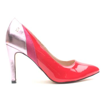 UNA HEALY BLUE EYES COURT SHOE - RED MULTI
