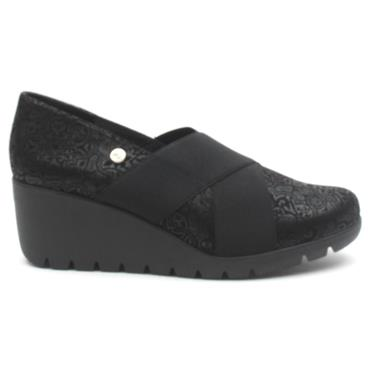 INEA BOISE WEDGE SHOE - Black
