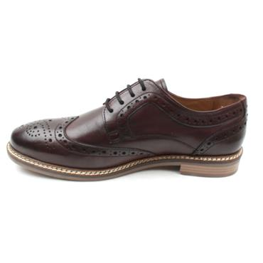 HUSH PUPPIES BRYSON BROGUE SHOE - BURGUNDY