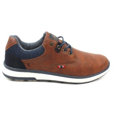 LLOYD AND PRYCE BURGER LACED SHOE - CAMEL