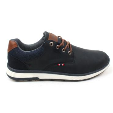LLOYD AND PRYCE BURGER LACED SHOE - NAVY