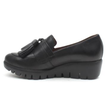 WONDERS C33174 WEDGE TOGGLE SHOE - Black