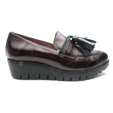 WONDERS C33174 WEDGE TOGGLE SHOE - BURGUNDY