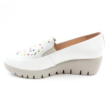 WONDERS C33205 DIANONTE SHOE - WHITE