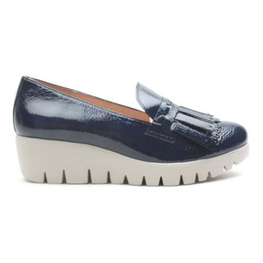 WONDERS C33207 WEDGE SHOE - NAVY PATENT