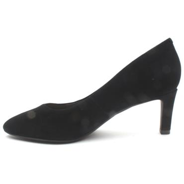 CLARKS CALLA ROSE COURT SHOE - BLACK SUEDE E
