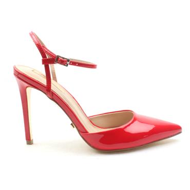 GLAMOUR CAMIE STRAPPY SHOE - RED PATENT