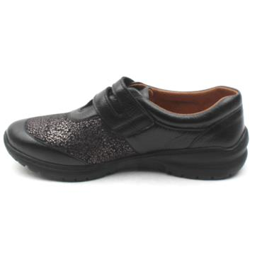 SOFTMODE CARA VELCRO EE FIT - BLACK SILVER