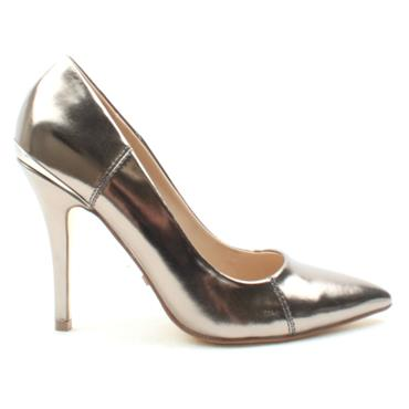 GLAMOUR CARRIE COURT SHOE - PEWTER