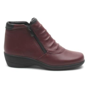SOFTMODE ZIP CHLOE EE FIT BOOT - BURGUNDY