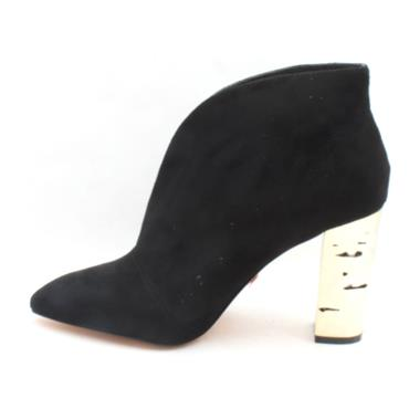 UNA HEALY CHOICES BOOT - BLACK SUEDE