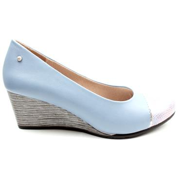 ZANNI & CO CITADEL WEDGE SHOE - BLUE