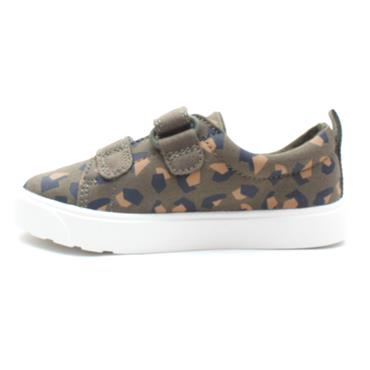 CLARKS CITY BRIGHT T CANVAS SHOE - GREEN F