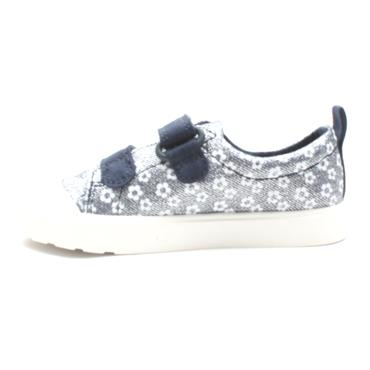 CLARKS CITY BRIGHT T CANVAS SHOE - NAVY WHITE F