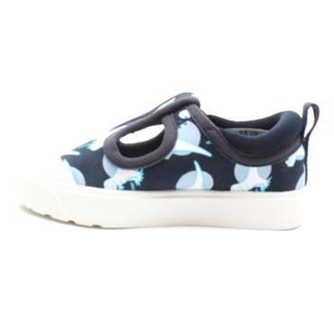 CLARKS CITY DANCE T T BAR CANVAS SHOE - NAVY MULTI F