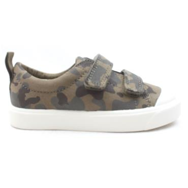 CLARKS CITY FLARE LO CANVAS SHOE - GREEN F
