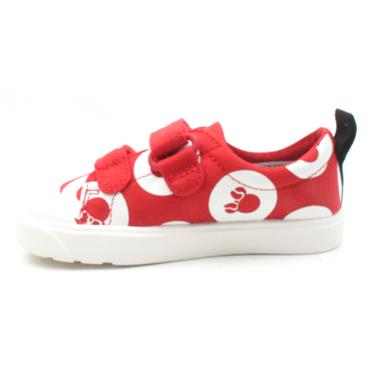 CLARKS CITY POLKALO VELCRO SHOE - RED MULTI F