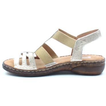 SOFTMODE CLAIRE FLAT SANDAL - GOLD
