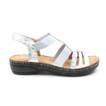 SOFTMODE CLAIRE FLAT SANDAL - SILVER