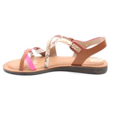 UNA HEALY CLOSER TO YOU STRAP SANDAL - PINK MULTI