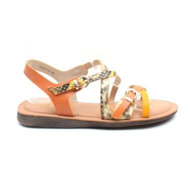 UNA HEALY CLOSER TO YOU STRAP SANDAL - YELLOW