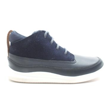 CLARKS CLOUD AIR JUNIOR BOOT - NAVY G