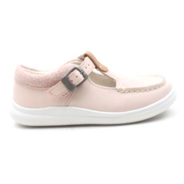 CLARKS CLOUD ROSA GIRLS SHOE - BABY PINK F