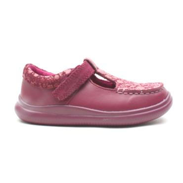 CLARKS CLOUD ROSA T SHOE - BERRY F