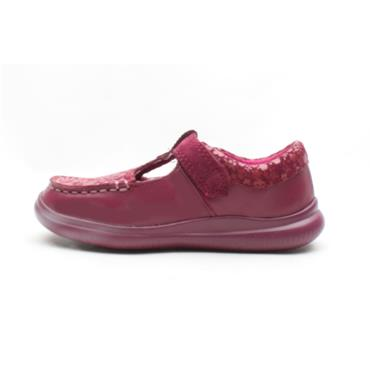 CLARKS CLOUD ROSA T SHOE - BERRY G