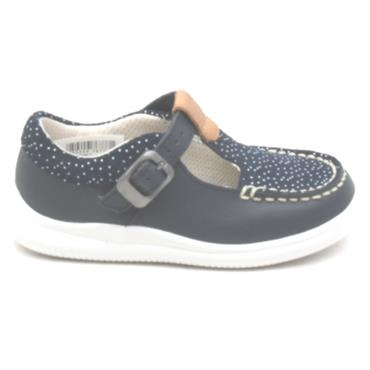CLARKS CLOUD ROSA T SHOE - NAVY F