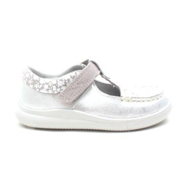 CLARKS CLOUD ROSA T SHOE - SILVER F