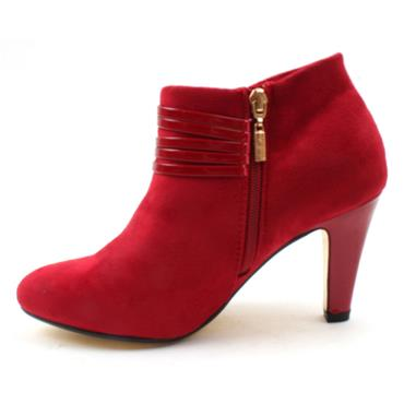 KATE APPLEBY COLBURN SHOE BOOT - RED SUEDE