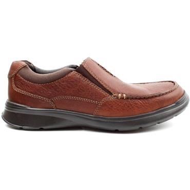 CLARKS COTRELL FREE SLIP ON  SHOE - TAN G