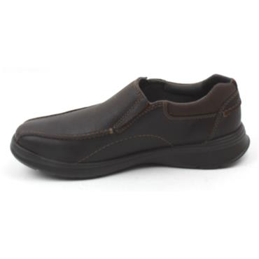 CLARKS COTRELL STEP SLIP ON SHOE - BROWN G
