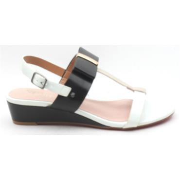 KATE APPLEBY CRAWLEY WEDGE SANDAL - BLACK MULTI