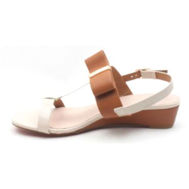 KATE APPLEBY CRAWLEY WEDGE SANDAL - TANMULTI