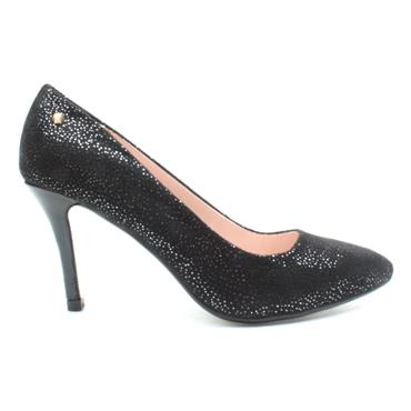 KATE APPLEBY CROOK SHOE - BLACK SPARKLE