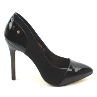 KATE APPLEBY CROSBY COURT SHOE - BLACK PATENT
