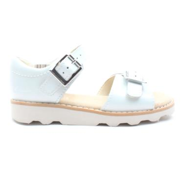 CLARKS CROWN BLOOM BUCKLE SANDAL - WHITE G