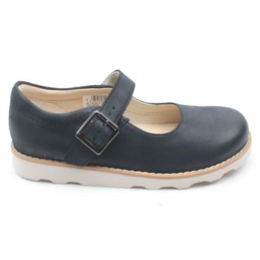 CLARKS CROWN HONOR STRAP SHOE - NAVY F